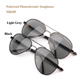 Photochromic polarized sun glasses women men brand designer 2016 driving sport hiking sunglasses with spring hinge