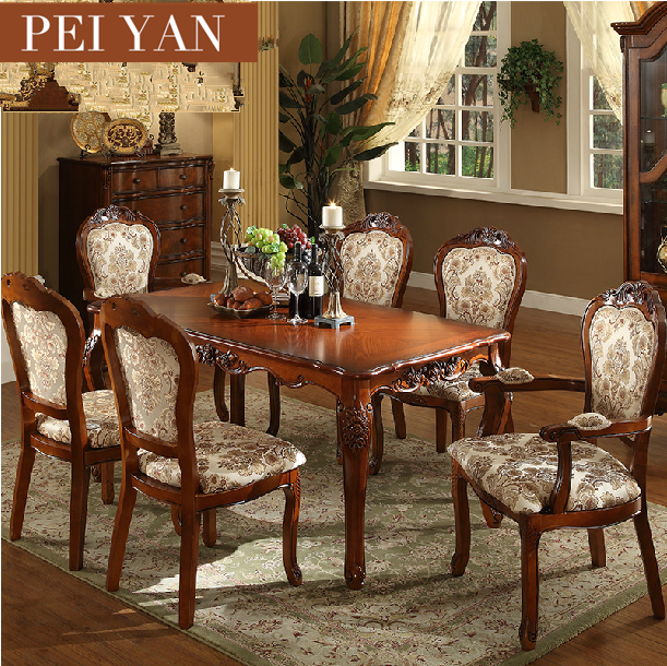 European Style Antique Luxury Dining Room Furniture Made