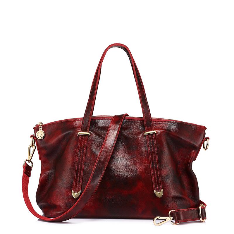 REALER сумка из натуральной кожи для женщин, модная женская сумка, женская большая сумка через плечо, высокое качество, однотонная сумка(Китай)