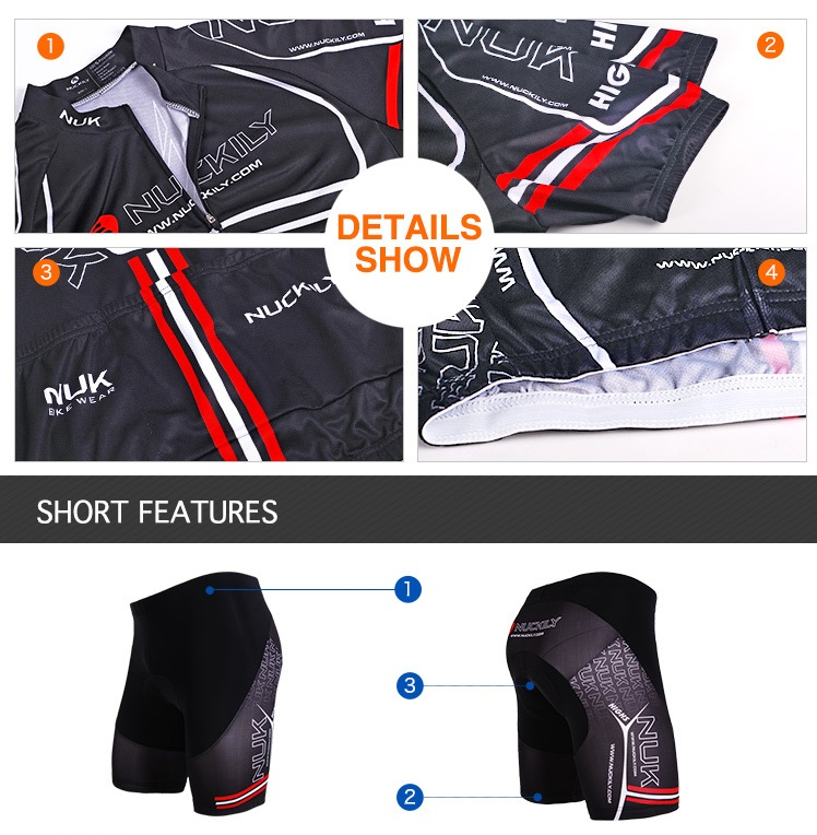 8de49b3cd Shop NUCKILY mens KingKong design cycling jersey and shorts suit ...