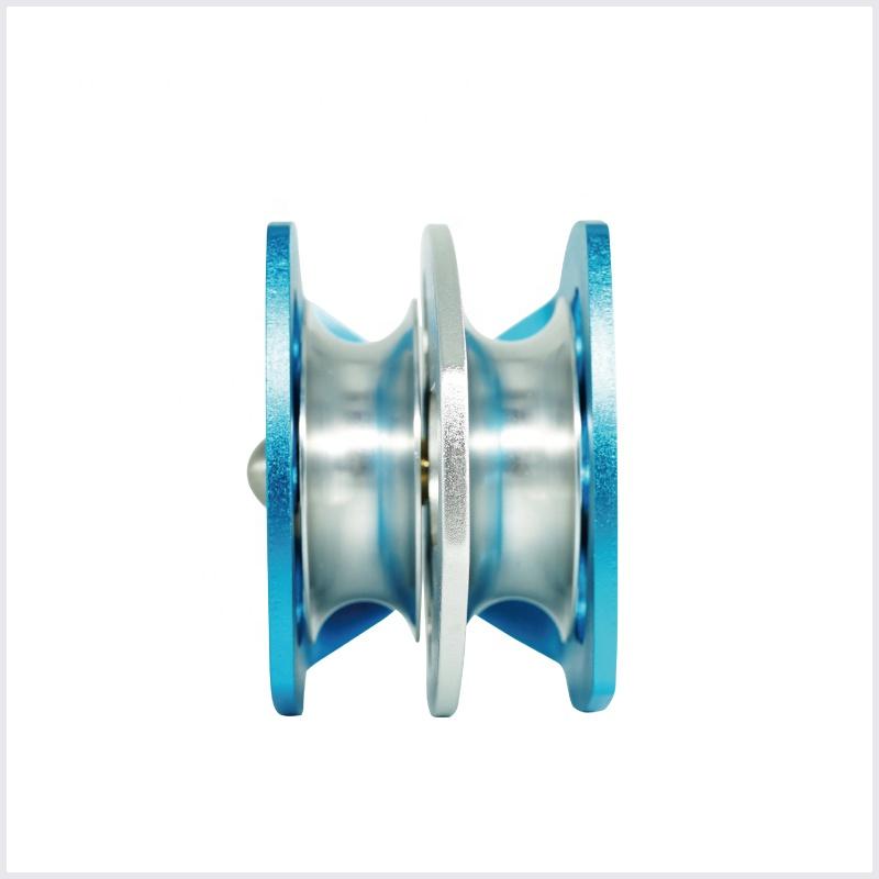 Алюминиевый пружинный двойной спасательный шкив
