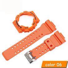 Для Casio GA-110 GA100 GD-120 силиконовый ремешок высокого качества резиновый ремешок для часов с чехлом для часов для мужчин резиновый ремешок для ча...(China)