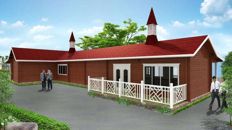 2020 Economical simple prefab wooden bungalow