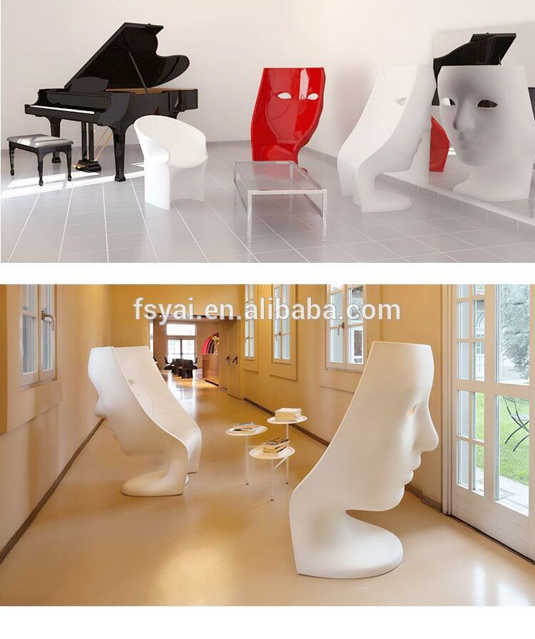Luxury Sit On My Home Modern Classic Luxury Lounge Furniture Fiberglass Stool Driade Nemo Face Chair For Sale