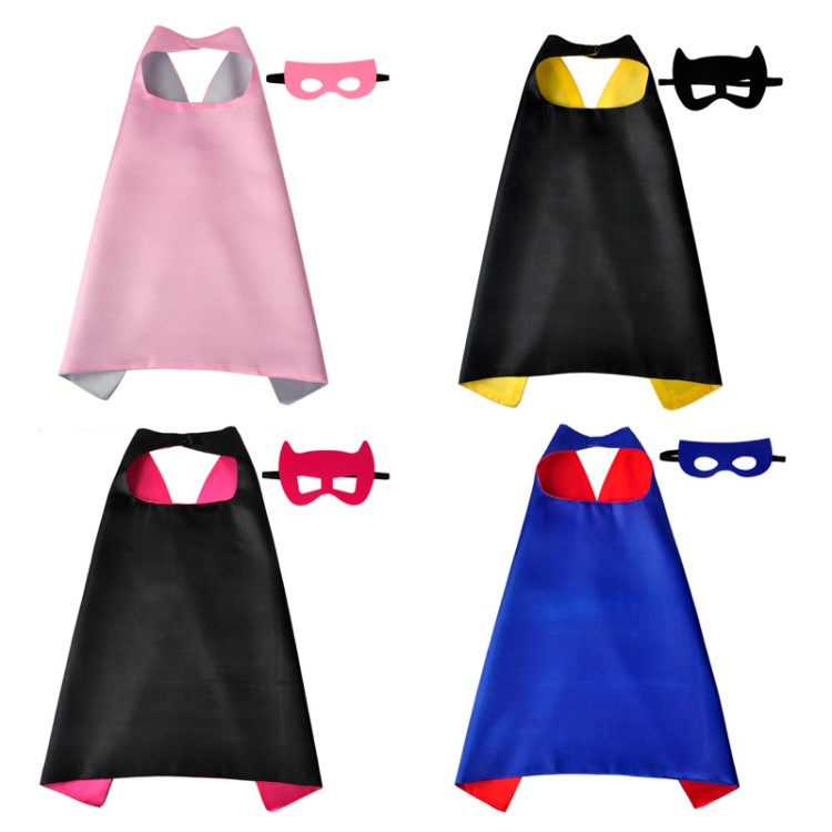 Made In China Cartoon Design Polyester Superhero Cape And Mask For Kids