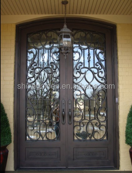 Steel Security Entry Double Doors Main Gate Design Home