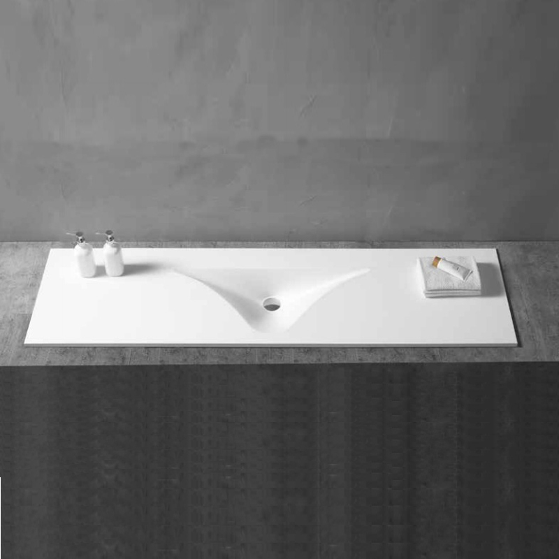 Ck2 A58 Pmma Pure Solid Surface Stone Resin Bathroom Countertop Single Sink White Matt Stone Resin Sink Buy Stone Resin Bathroom Countertop Sinks Pmma Pure Solid Surface Countertops Solid Surface Integrated Bathroom Sink Product On