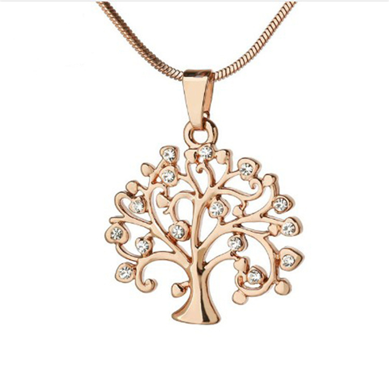 Life Tree Pendant Necklace Women Jewelry Fashion 2019 Crystal Rose Gold Statement Necklaces Pendants Christmas Gifts Bijoux Buy Necklace Women Life Tree Necklace Rose Gold Necklace Product On Alibaba Com