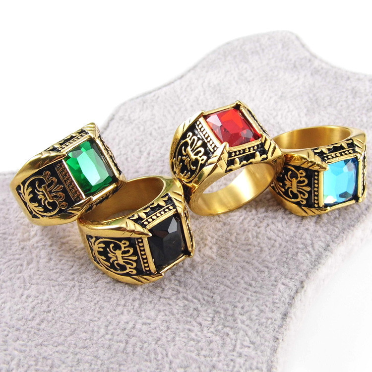 Men Ring Best Selling Gifts 18k Gold Stainless Steel