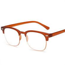 Классические мужские очки для чтения TR90, полуоправа, очки для дальнозоркости, прозрачные, ультралегкие, против усталости, очки по рецепту, wo ...(Китай)