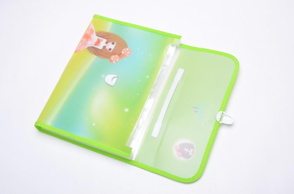 Изготовленный на заказ пластиковый детский пакет карамельного цвета Сумка для документов