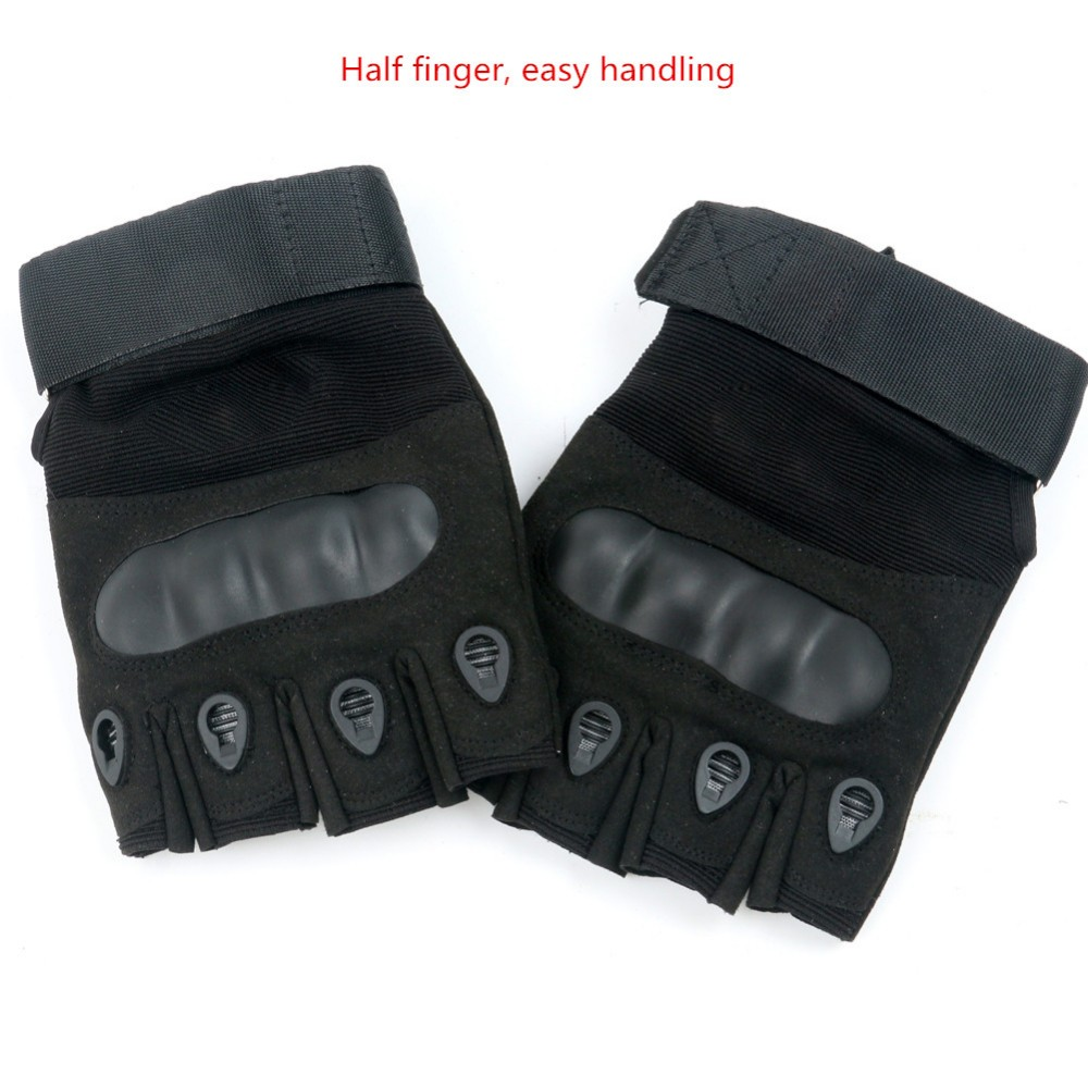 TEGE Tactical Half-finger Gloves Outdoor Climbing Anti-wear Protection Anti-skid Fitness Cycling Gloves