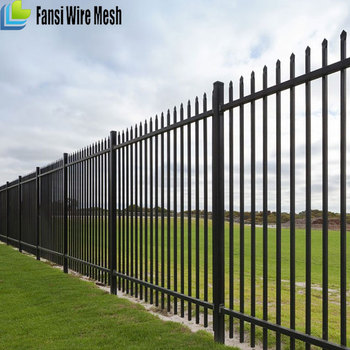 Heavy duty W or D type spear top galvanised fencing