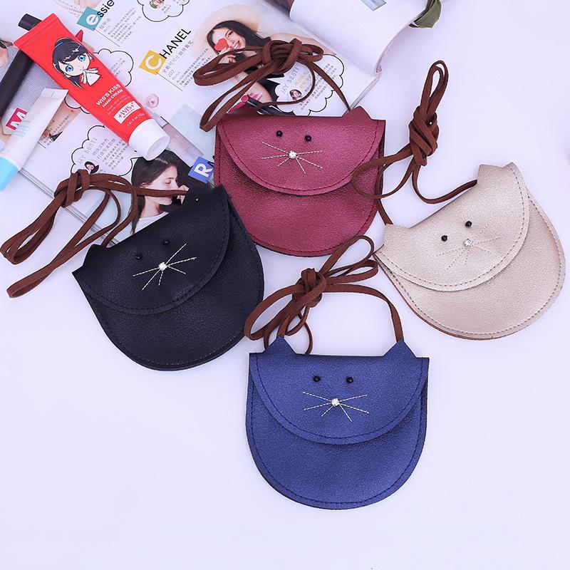 c839811d9ef Mini Cute Cat Ear Shoulder Bag Kids All-Match Key Coin Purse Cartoon Lovely  Messenger Bag little girl\`s present