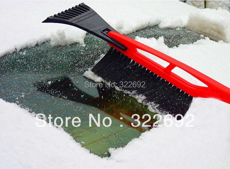 3-в-1 пластиковые красный / синий автомобиль скребок чистый снег кисти бесплатная доставка