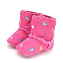 0 18M Winter Warm Shoes Toddler Kids Baby Girls Soft Sole Crib Shoes Zip Anti slip