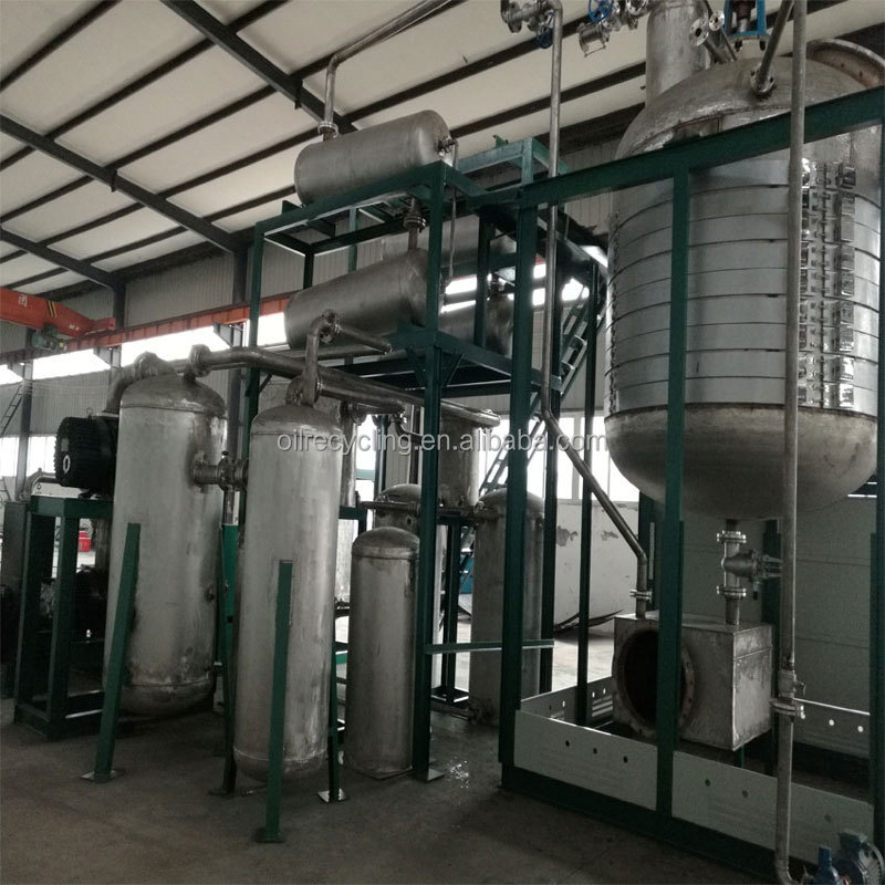 Желтый завод по производству дизельного масла для переработки отходов минерального смазочного масла