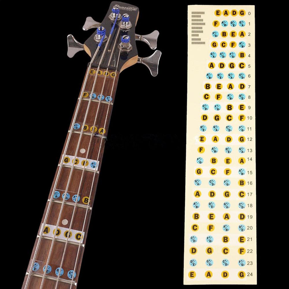 2pcs guitar bass fretboard scale sticker fingerboard note label fret stickers for guitar bass. Black Bedroom Furniture Sets. Home Design Ideas