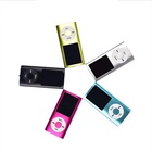 Promotional gift colorful portable mini digital mp3 / mp4 player with screen and cable
