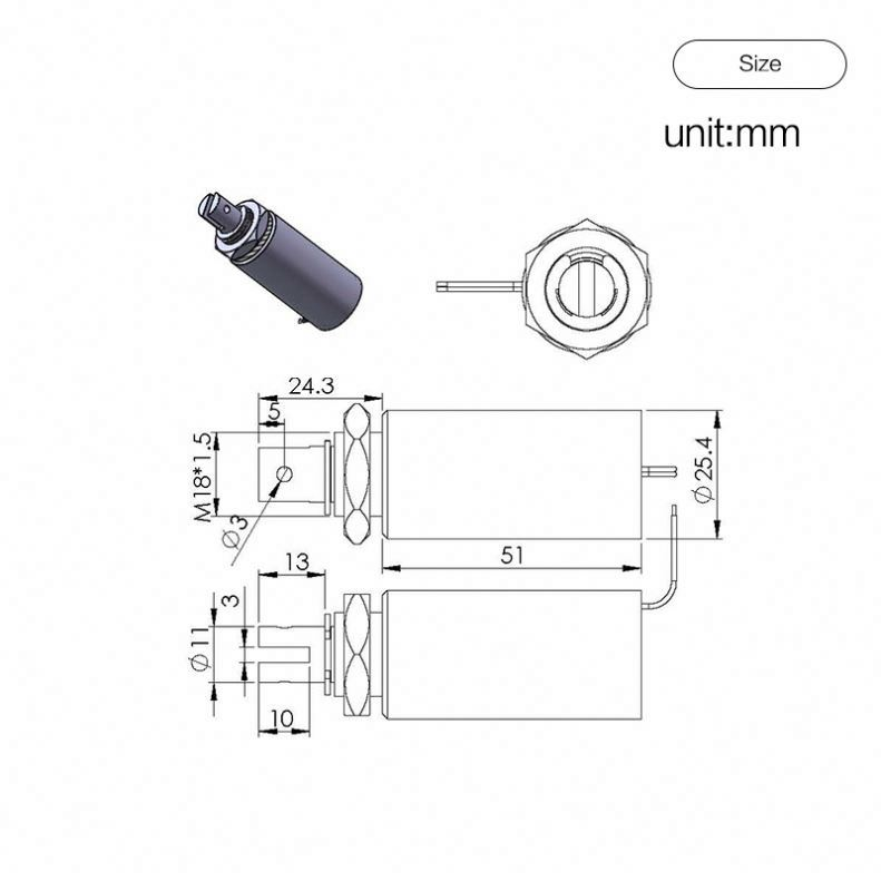 24 Volte Air Micro Electric Miniature 5V 3 Way Solenoid Valve For Car
