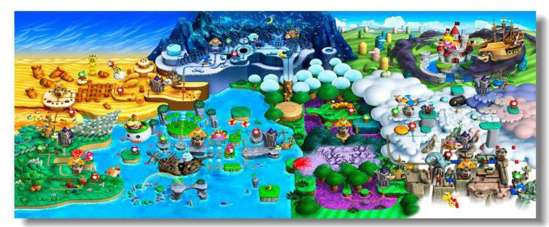 super mario bros u deluxe map