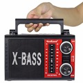 5W X BASS Portable FM AM SW Table Radio with MP3 Player REC MIC Recorder Radio