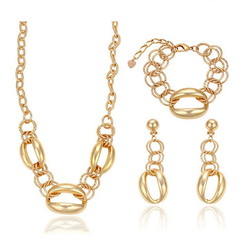 63235 Xuping African plates 18k full gold dubia fashion jewelry latest indian fashion jewellery set, indian jewellery