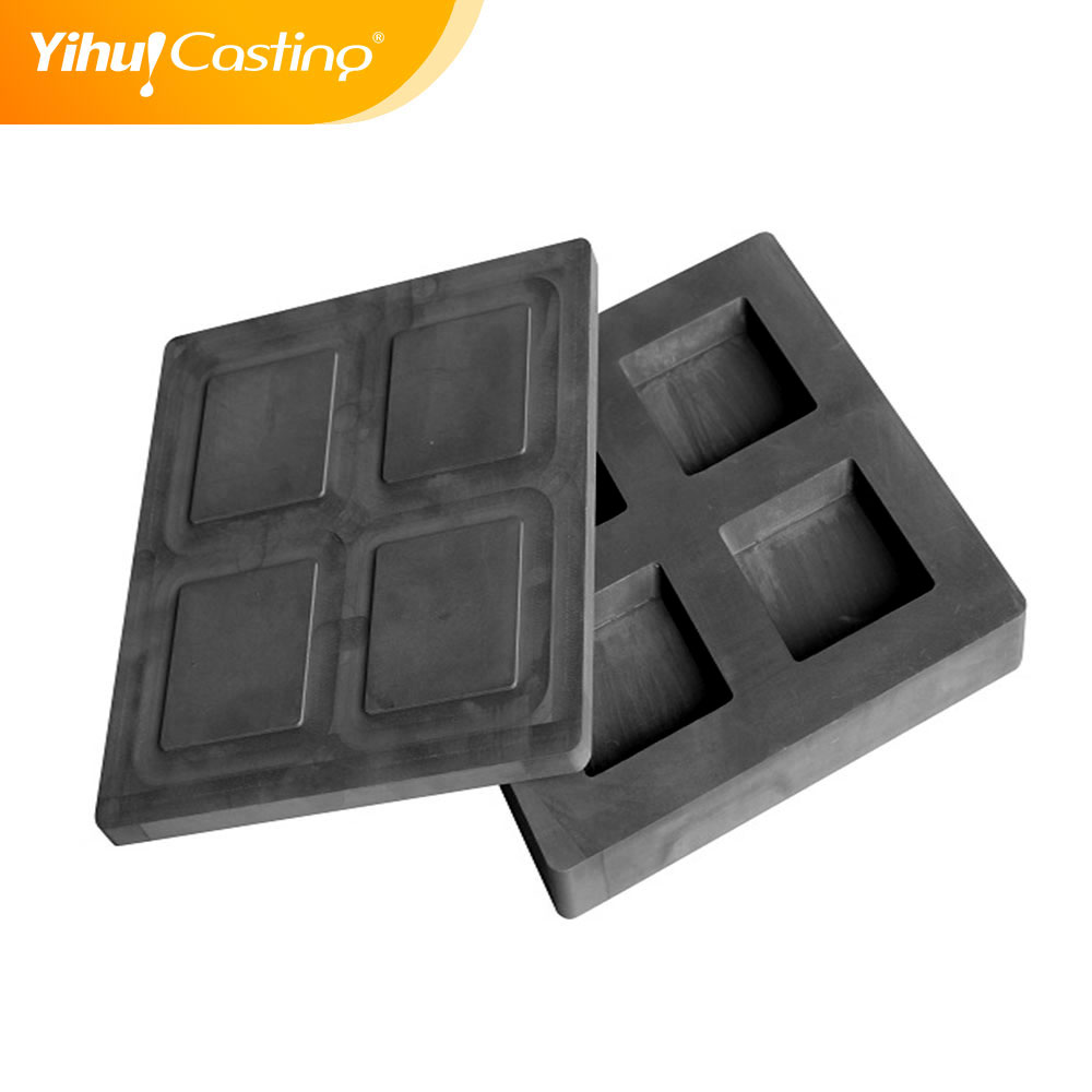 high purity melting crucible casting crucible graphite ingot mold for gold strip melting carbon crucible