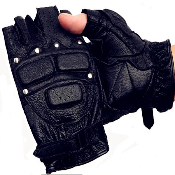 Gym Leather Gloves Weight Lifting Body Building Training Fitness Strap S,M,L,XL