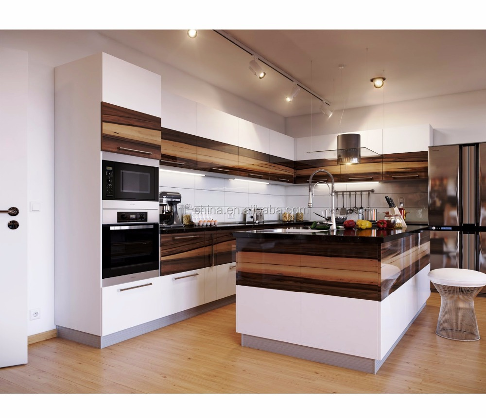 9 Accept Customize Cheap Price New Mdf / Pvc Kitchen Cabinets ...