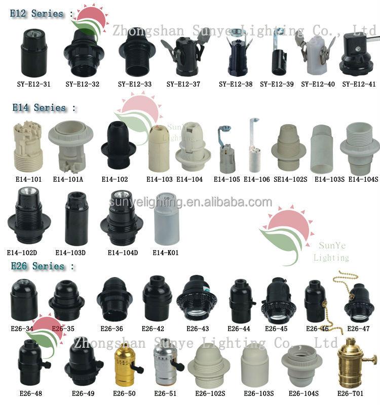 Ce Vde Saa Rohs E27 Light Socket Bulb Holder Lamp Shade