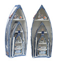 3pcs set handmade boat Rowing shaped bookcase Wine Cabinet for Deck