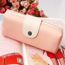 Корейский конфетных оттенков пенал, чехол из искусственной кожи, школьная сумка-карандаш для девочек, канцелярские принадлежности estojo escolar,...(Китай)