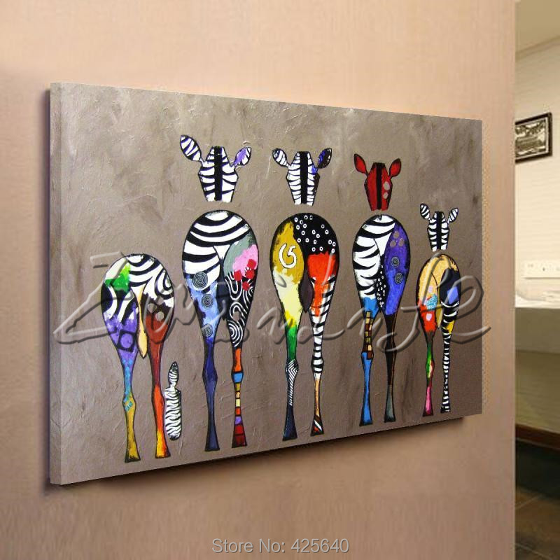 Zebra Pop Art Oil Paintings Canvas Hand Painted Andy Warhol Wall Art Pictures Animals Cuadros Home Decoracion For Living Room Online with $315.0/Piece on ... & Zebra Pop Art Oil Paintings Canvas Hand Painted Andy Warhol Wall Art ...