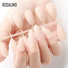 Маникюрный Маникюр ROSALIND 24 шт., матовые наконечники для накладных ногтей, поддельные формы для ногтей для наращивания, маникюрный дизайн для ...(Китай)