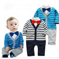 Baby Gentleman Romper Spring Baby Newborn Clothes European Style Mamelucos Para Bebes Casual Spring Infant Clothing
