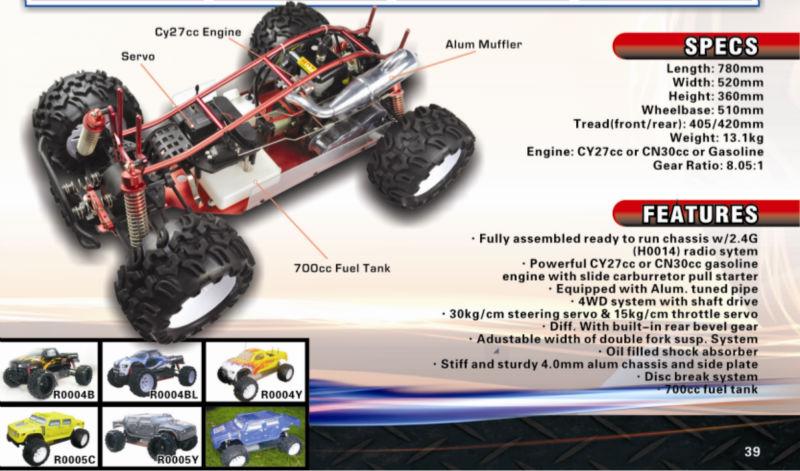 Source 1/5 RC CAR gas powered Rc car,Rc monster truck,petrol