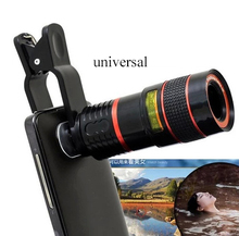 Universal 8X Optical Zoom Telescope Camera Mobile Phone Lens For LG huawei Gloogle nexus 4 5 6 5x 6p glass + metal lenses