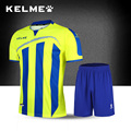 Kelme 2016 Top quality vertical striped Short sleeved professional Football Sets many colors Soccer training jersey