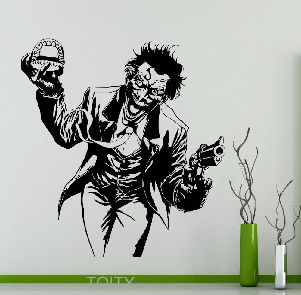 Heath Ledger Joker Wall Sticker Dc Marvel Comics Superhero