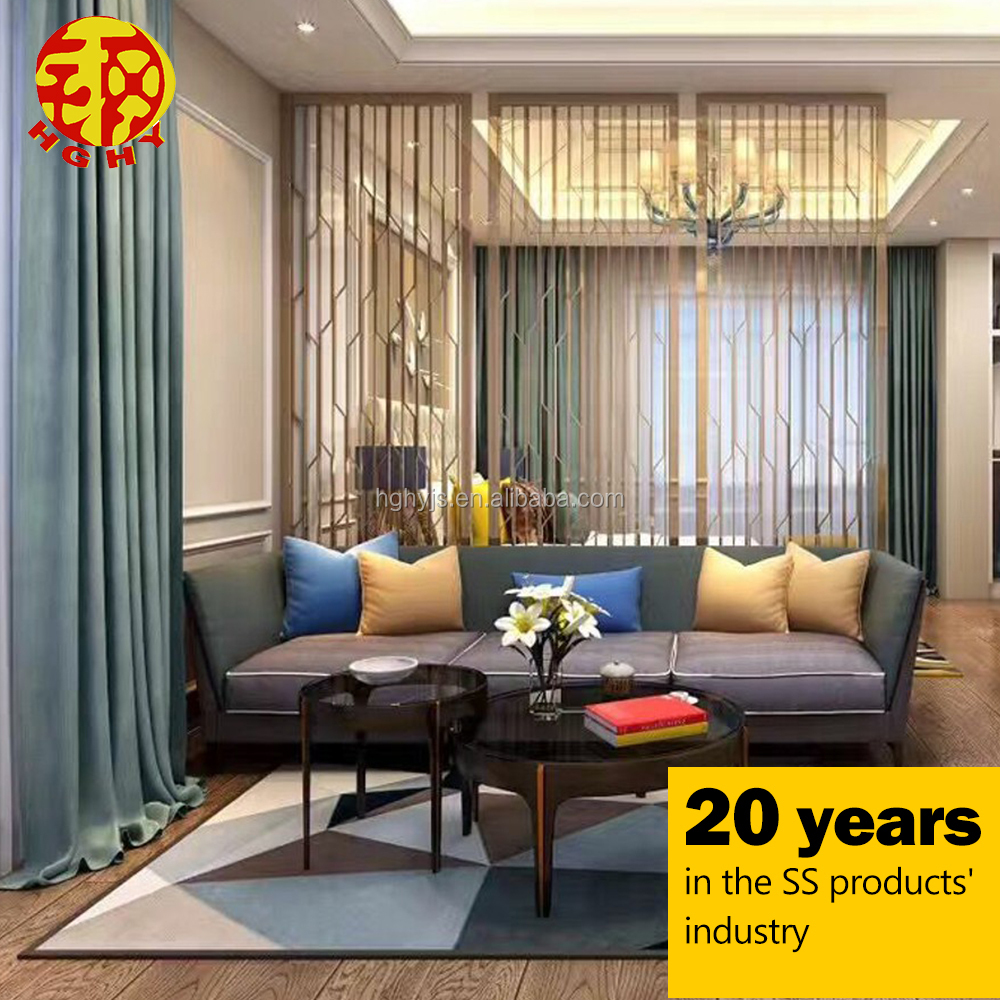 Stainless Steel Home Room Partition Modern Metal Wall Art Hanging Decor Screen View Wall Art Hanging Screen Hghy Product Details From Foshan He Gang Hua Yu Metal Products Co Ltd On Alibaba Com