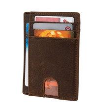 Супер тонкий мягкий кошелек из натуральной кожи, мини-кошелек для кредитных карт, кошелек для карт, Прямая поставка 564-50, мужской тонкий мале...(Китай)