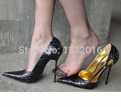 Fetish metal shoes