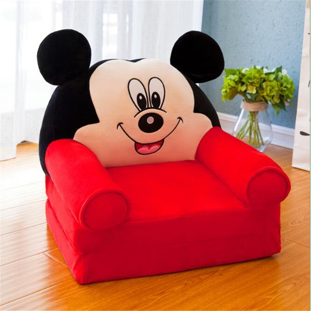 Super Foldable Baby Kids Cartoon Crown Sofa Seat Children Princess Chair Neat Puff Skin Children Lazy Backrest Plush Seats Cushion Bralicious Painted Fabric Chair Ideas Braliciousco