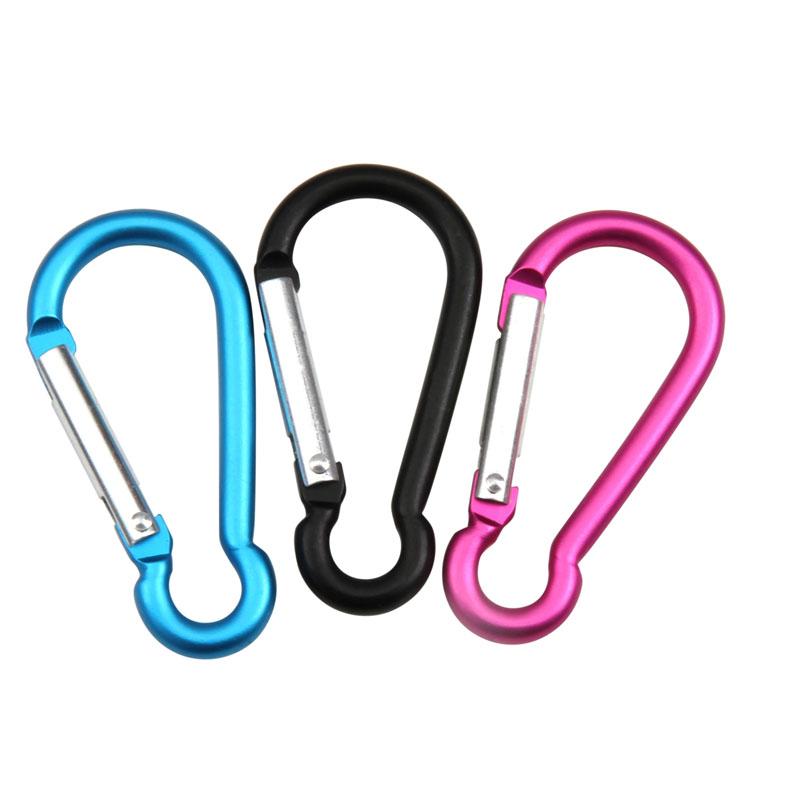 LIOOBO Lot de 6 mousquetons pour Escalade sur rotule en Aluminium en Forme de Crochets descalade Boucle /à Ressort Anneaux pour Escalade randonn/ée mousquetons Camping