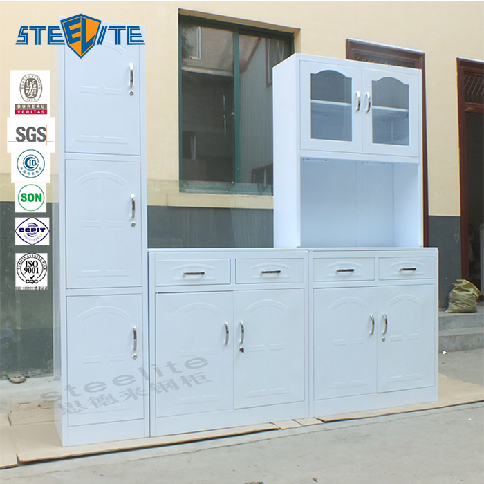 Cheap Modern Design White Metal Kitchen Cabinets Sale Buy Modular Product On Alibaba Com