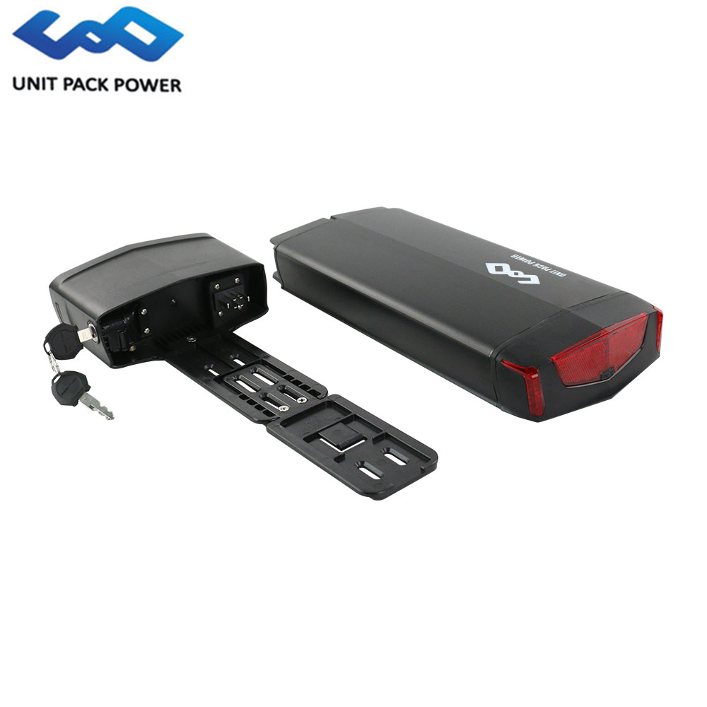 UPP Rack Type 36V 13ah 14.5Ah 16Ah 17.5ah 18650 29E Lithium ion Electric eBike Battery Pack with Install Rack