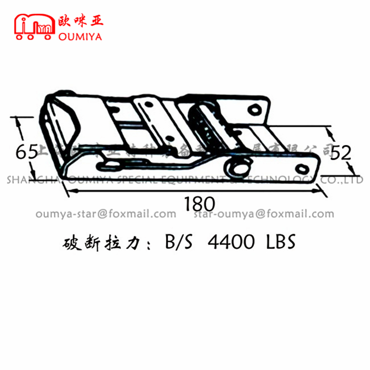 Curtain Side Truck Buckle For Belt 151180AM 151180AS