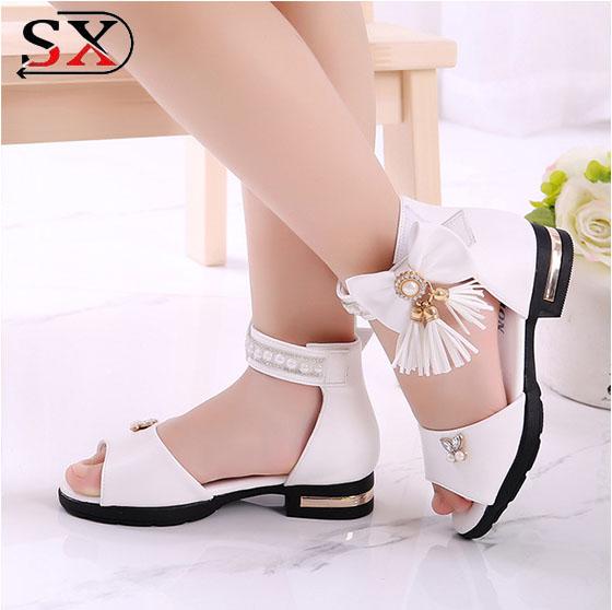 Новинка, модная детская Классическая обувь с пряжкой, детские сандалии