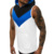 new men Fashion summer splice Color matching Hooded vest Fitness sleeveless Muscular man Slimming Gym clothes Sweatshirt